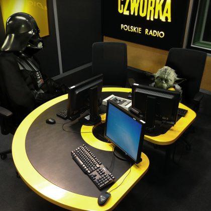 fotomontaż z okazji dnia gwiezdnych wojen i audycji temu towarzyszącej w radiowej Czwórce