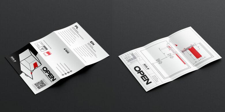 projekt szaty graficznej instrukcji dla Airtic - www.cichezamykanie.pl